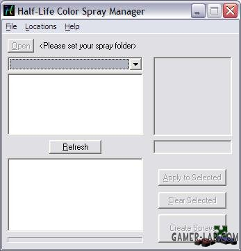 Half-Life color spray manager
