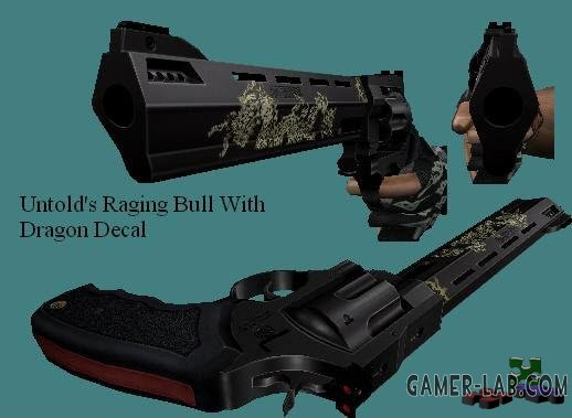 Raging Bull With Dragon Decal