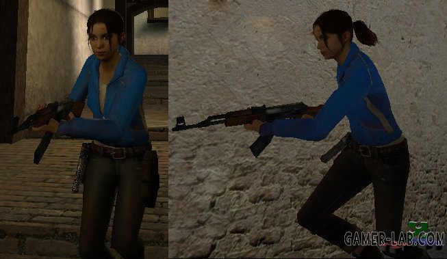 L4D Zoey Blue Shirt