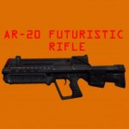 AR-20 Futuristic Assault Rifle