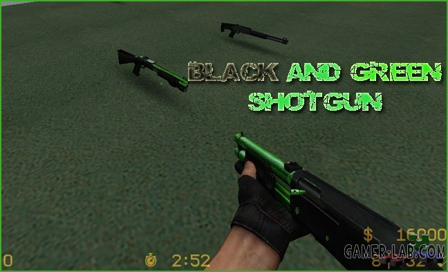 Black And Green Shotgun