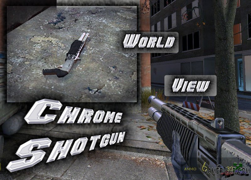 Chrome Skin Shotgun