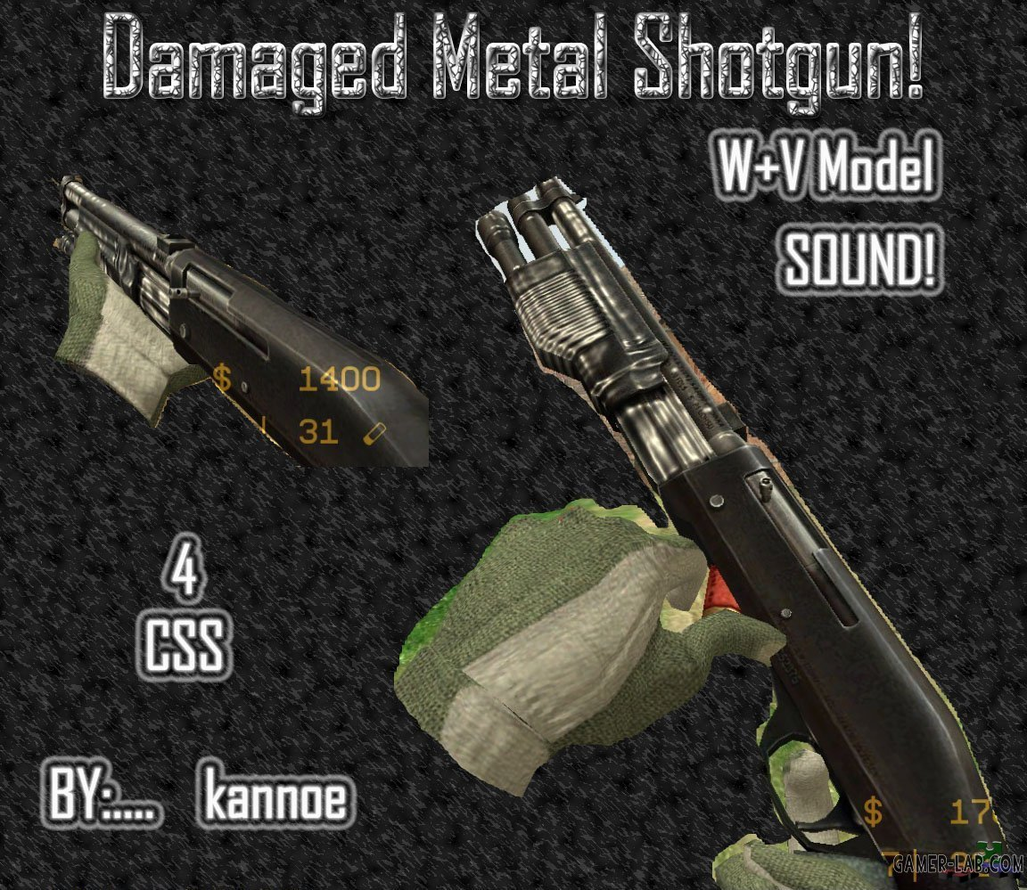 Damaged Metal Shotgun!