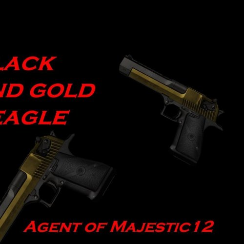 Black and gold deagle