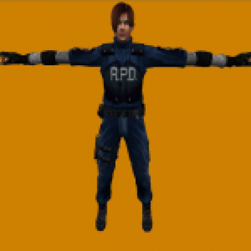 RE 4 Leon Kennedy in RE 2 LD Skin