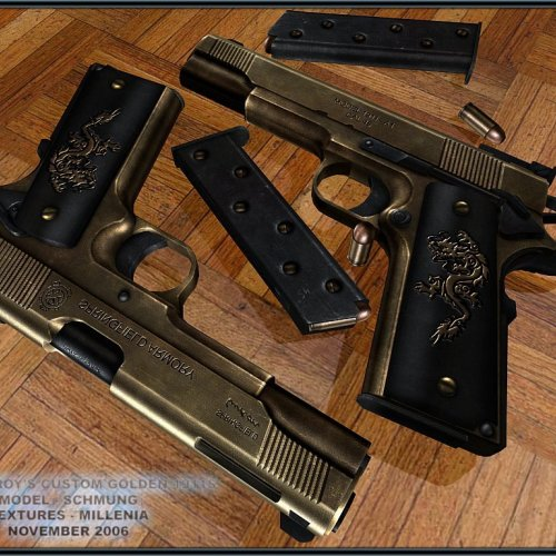 Castor Troy s Custom Golden 1911 s