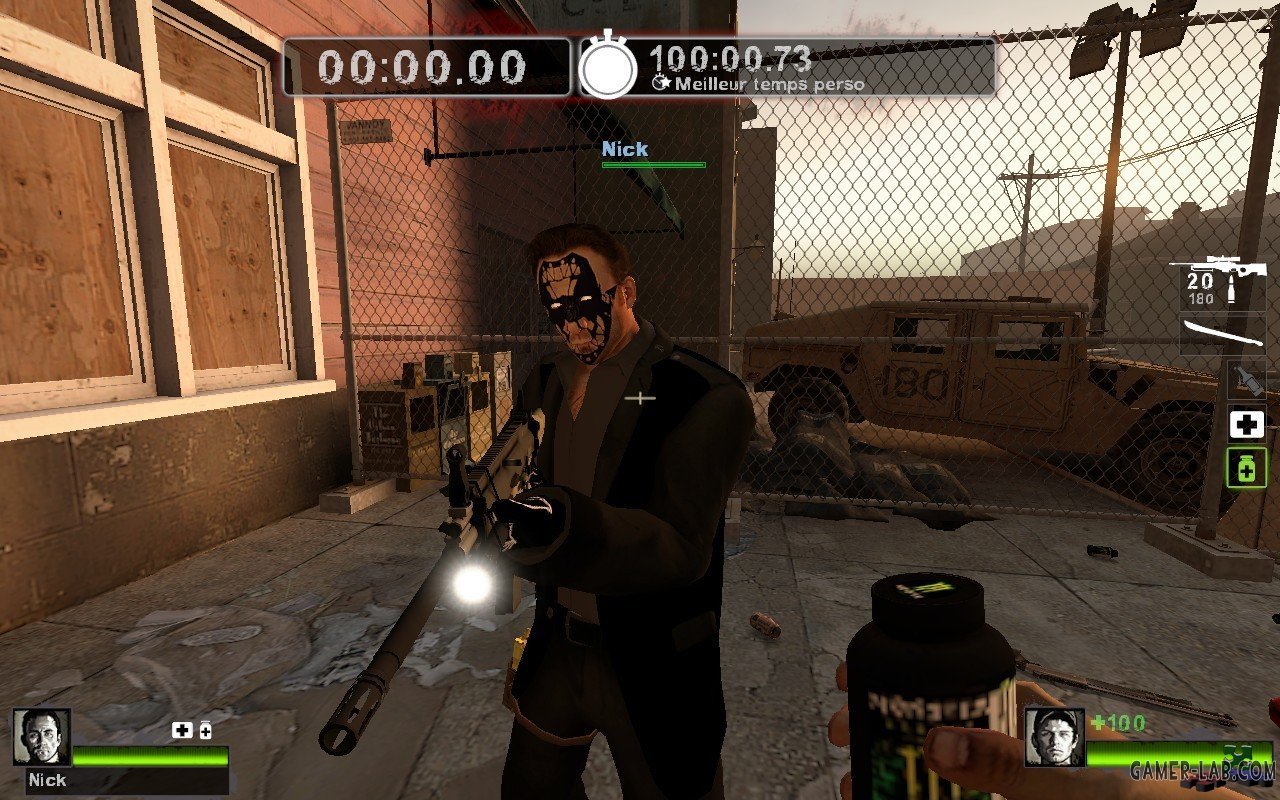 Nick night mask and black clothes