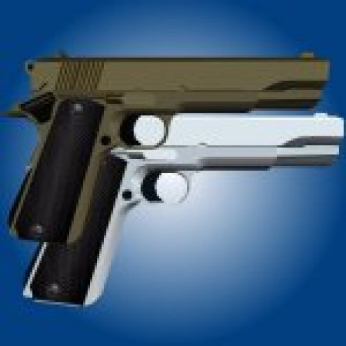 Colt M1911 Gold/Silver Chrome
