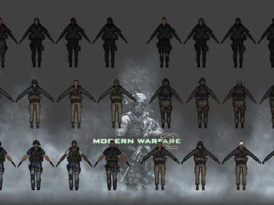 MW2 TF 141 and Seals Player Models