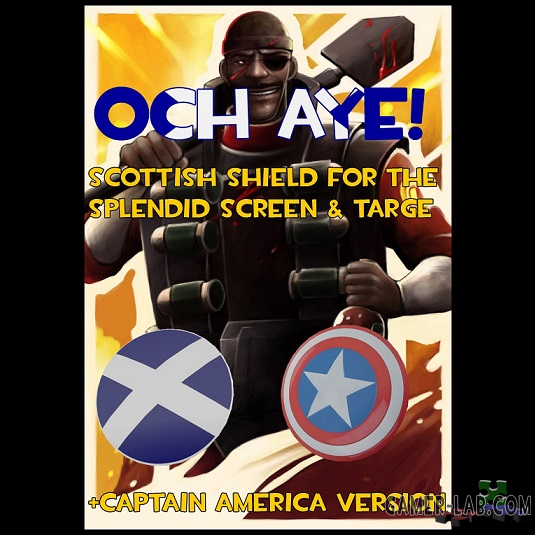 Scottish Shield + Captain America