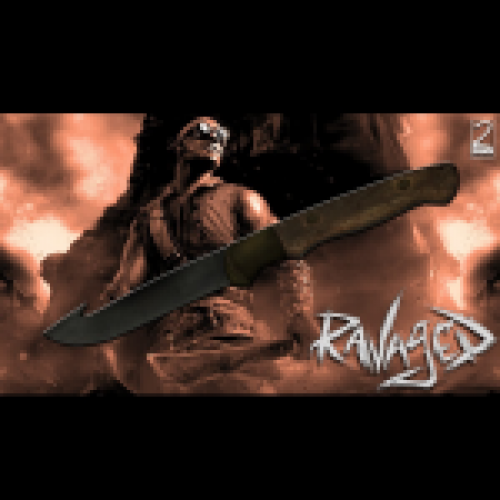 Ravaged Throwing Knife