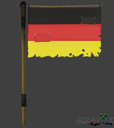 German Buff Banner Flag