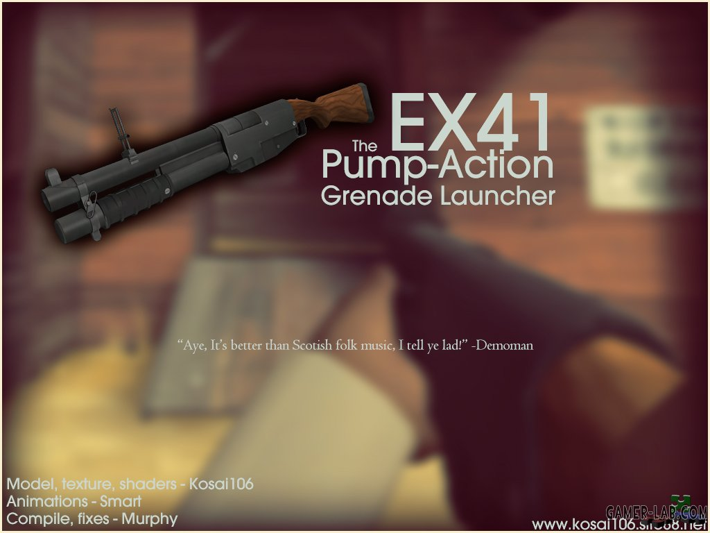 EX41 Pump-Action Grenade Launcher
