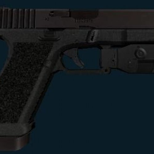 Solid Black Glock