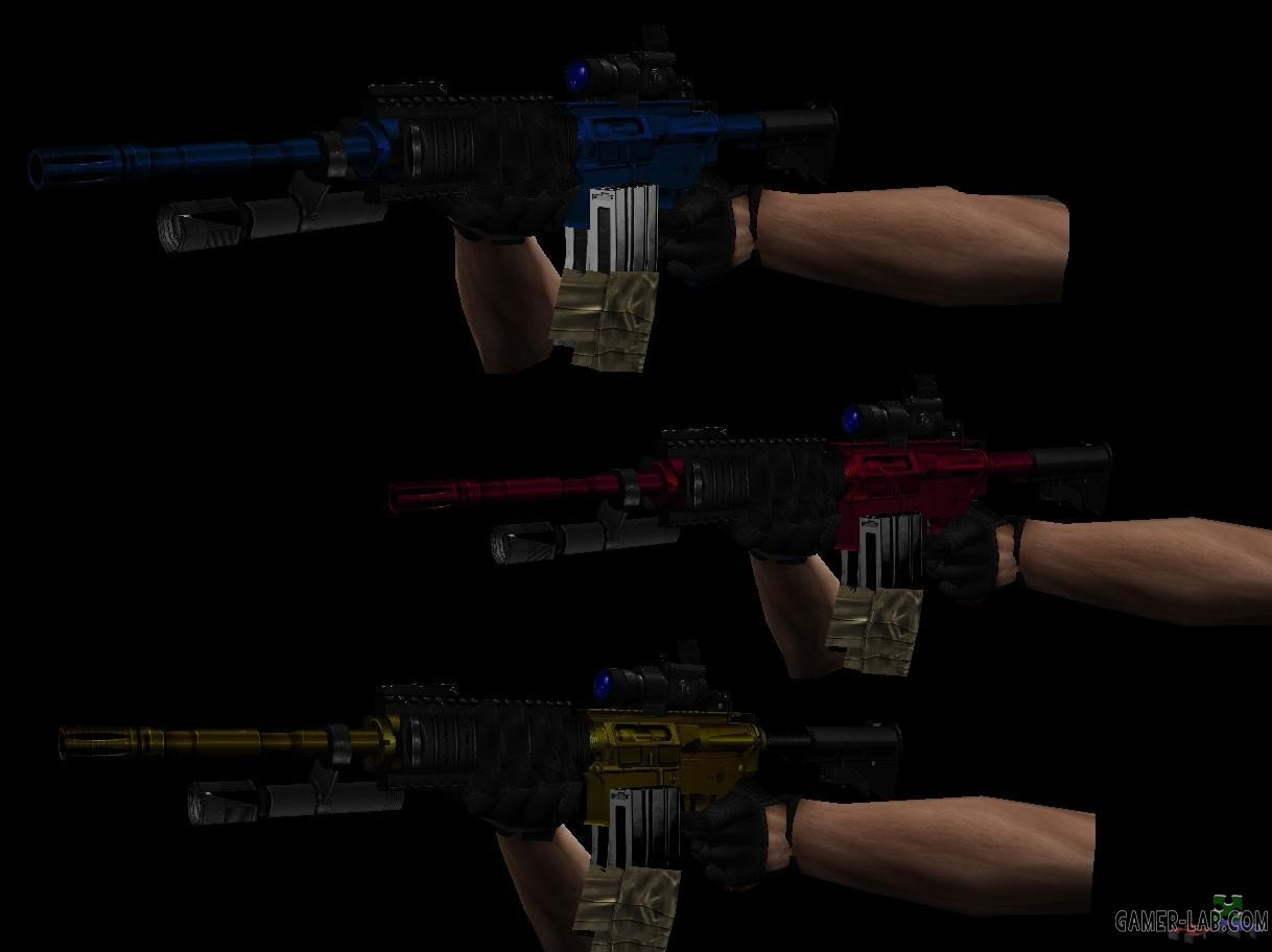 m4a1 v2 Urban Warfare style in 3 diferent colours
