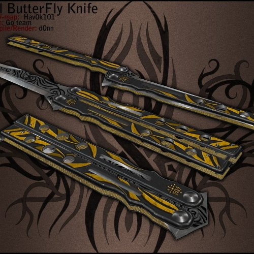 Tribal ButterFly knife