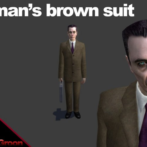 Gman's brown suit