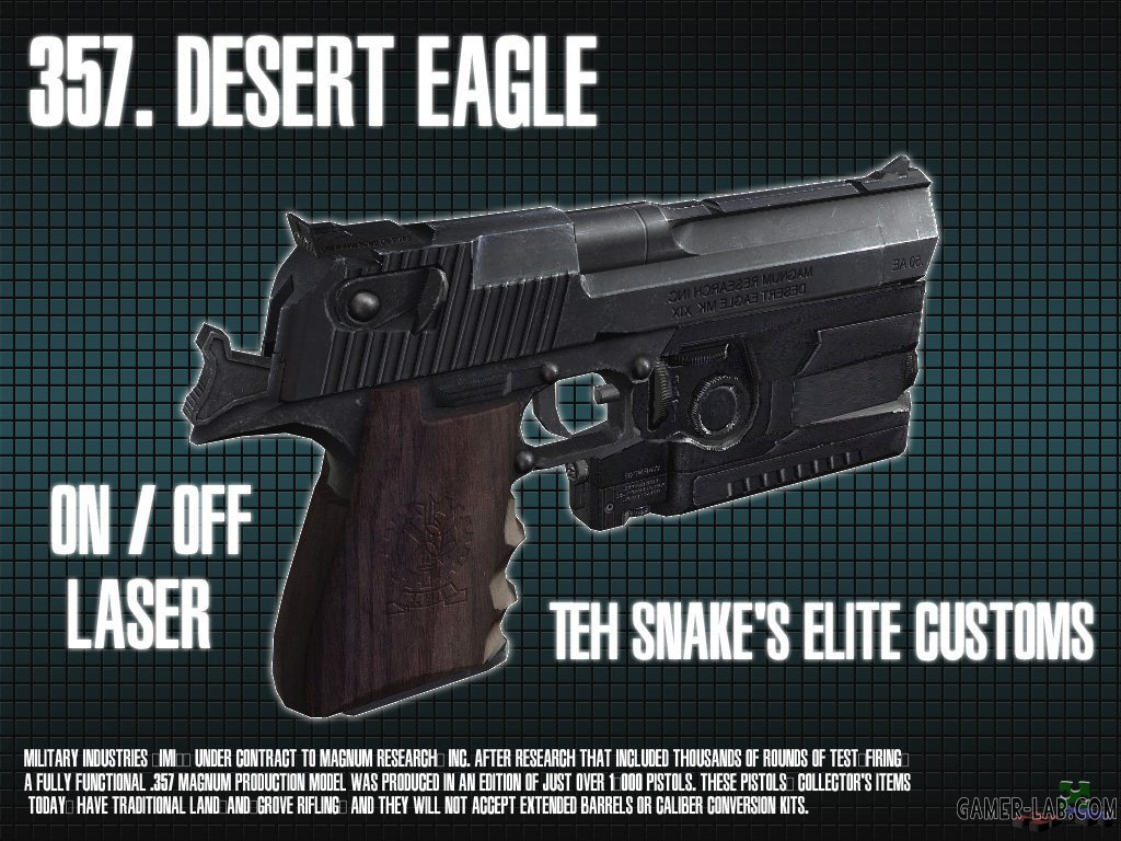 Desert Eagle 357. (On  Off laser)