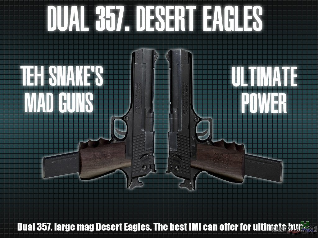Dual 357. Desert Eagles