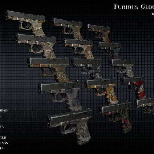 Furious Glock 19 On Camo
