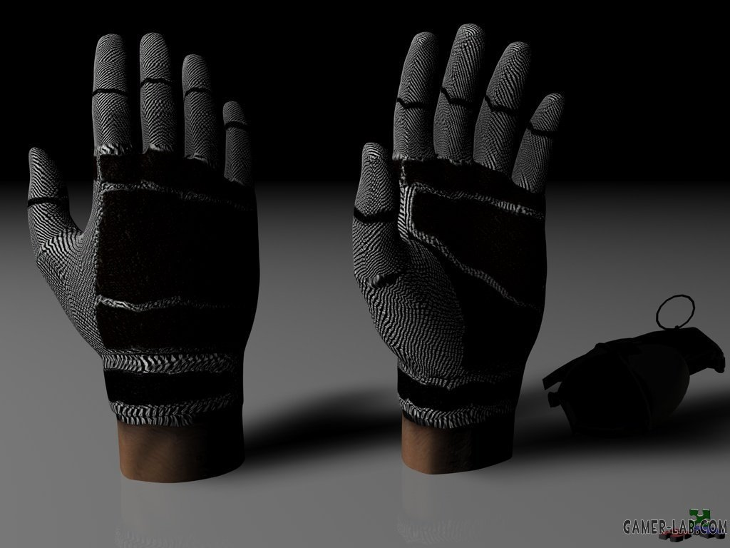 Cr0m_s_B_W_Full_Fingered_Gloves