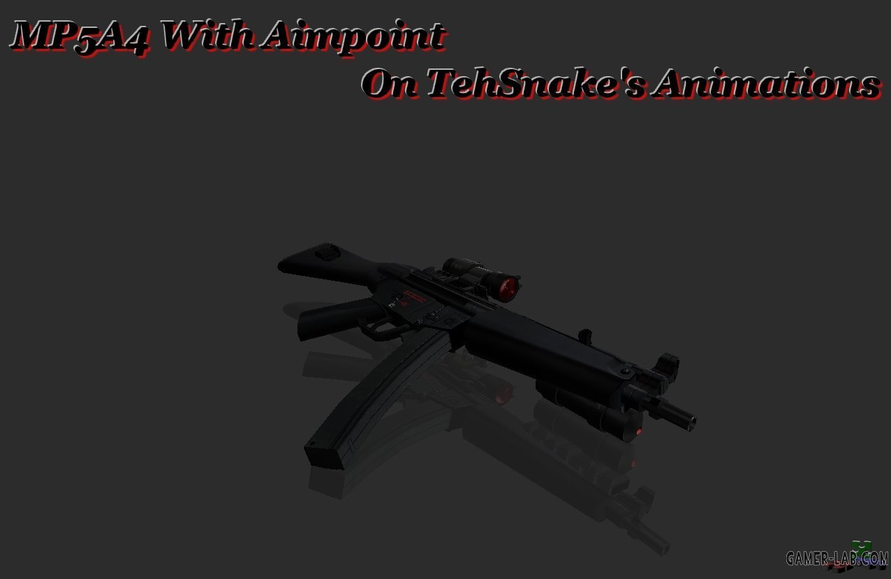 MP5A4 W Aimpoint On TS Anims