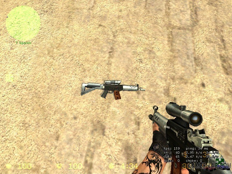 Max Damage's Silver And Black SG552