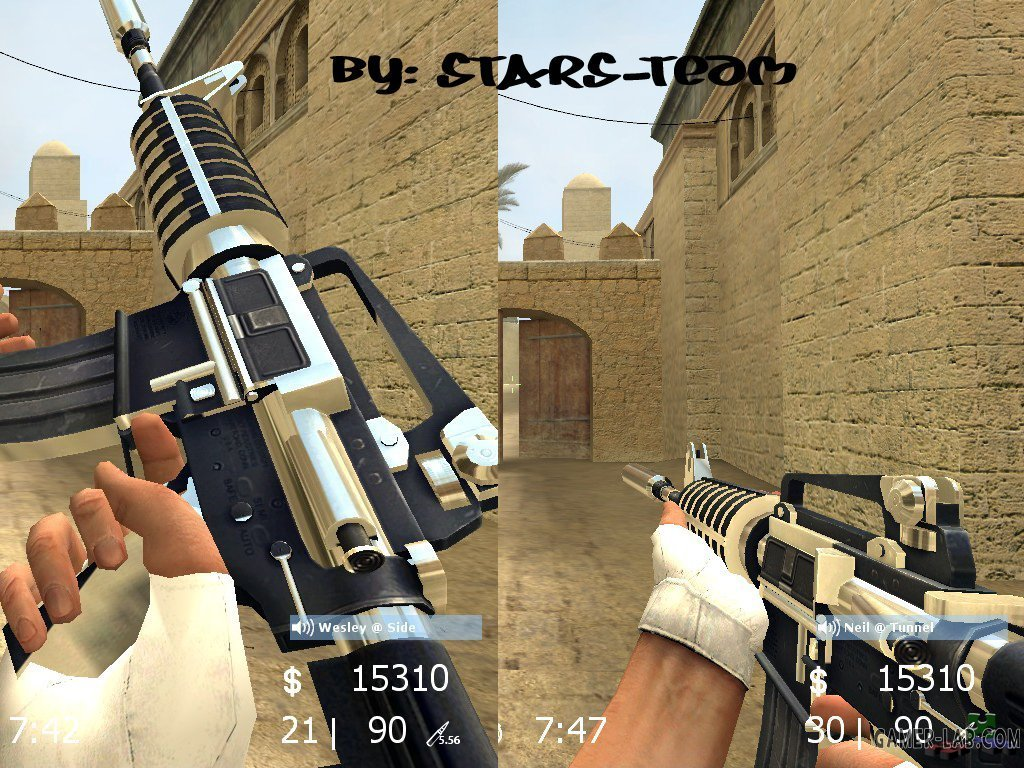 Chrome_Black_M4a1