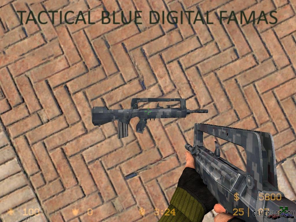 Tactical Blue digital FAMAS