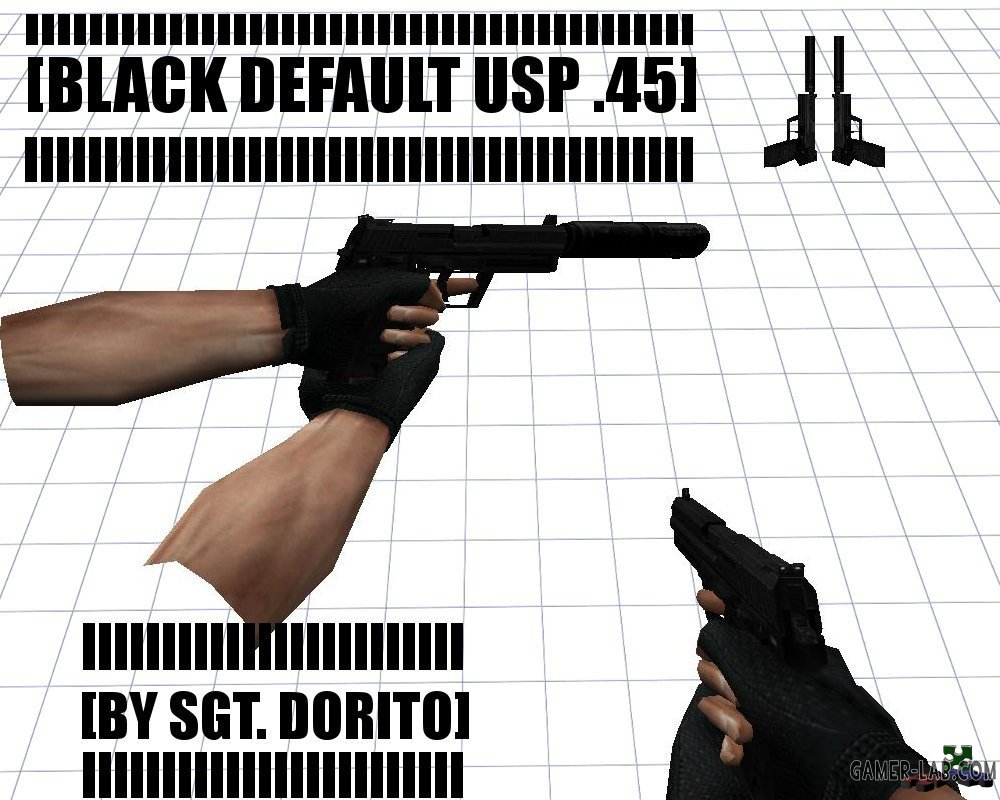 Black Default USP .45