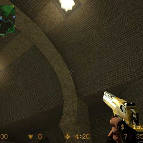 Phonged Two Tone Gold Deagle