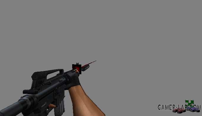 m4a1 with laser