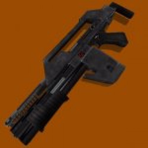 Aliens M41A Impulse Rifle Gray HD