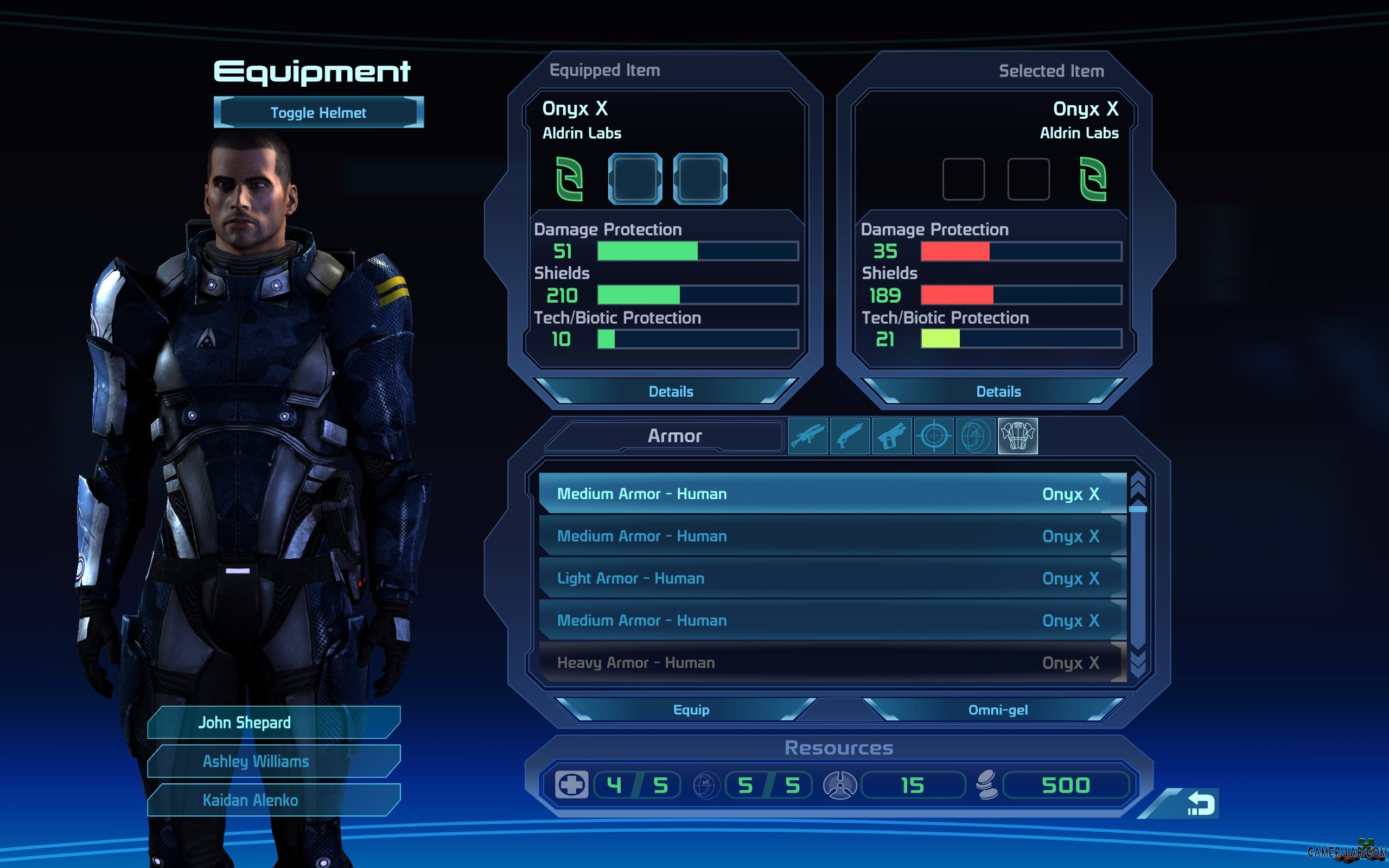 Alliance Marine Heavy Male Armor