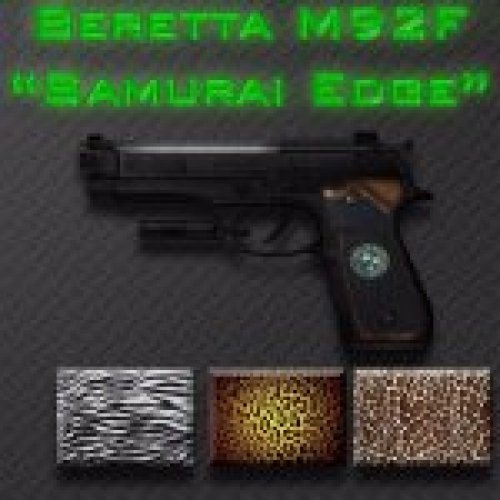Beretta M92F Samurai Edge HD with camos