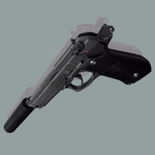 Beretta M92FS Black (Centered)