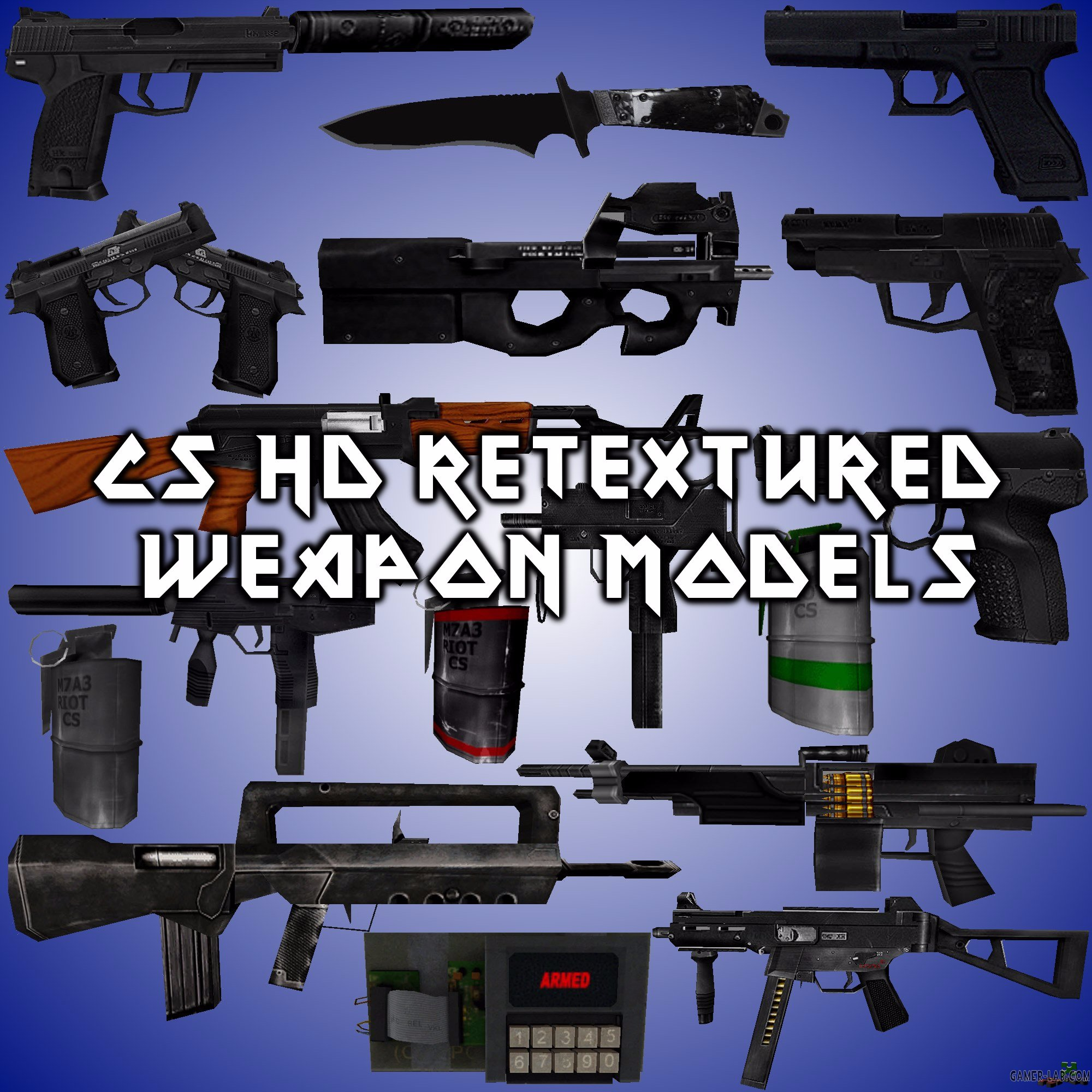 CS HD Retextured Weapon Models