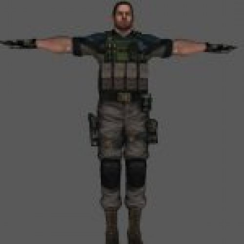 Chris Redfield in RE 6 style