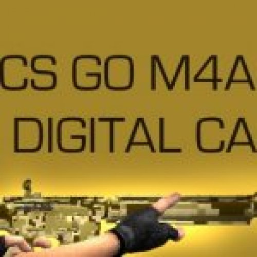 CS GO M4A4 DIGITAL CAMO