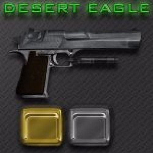 Desert Eagle+Gold+clips for ammo