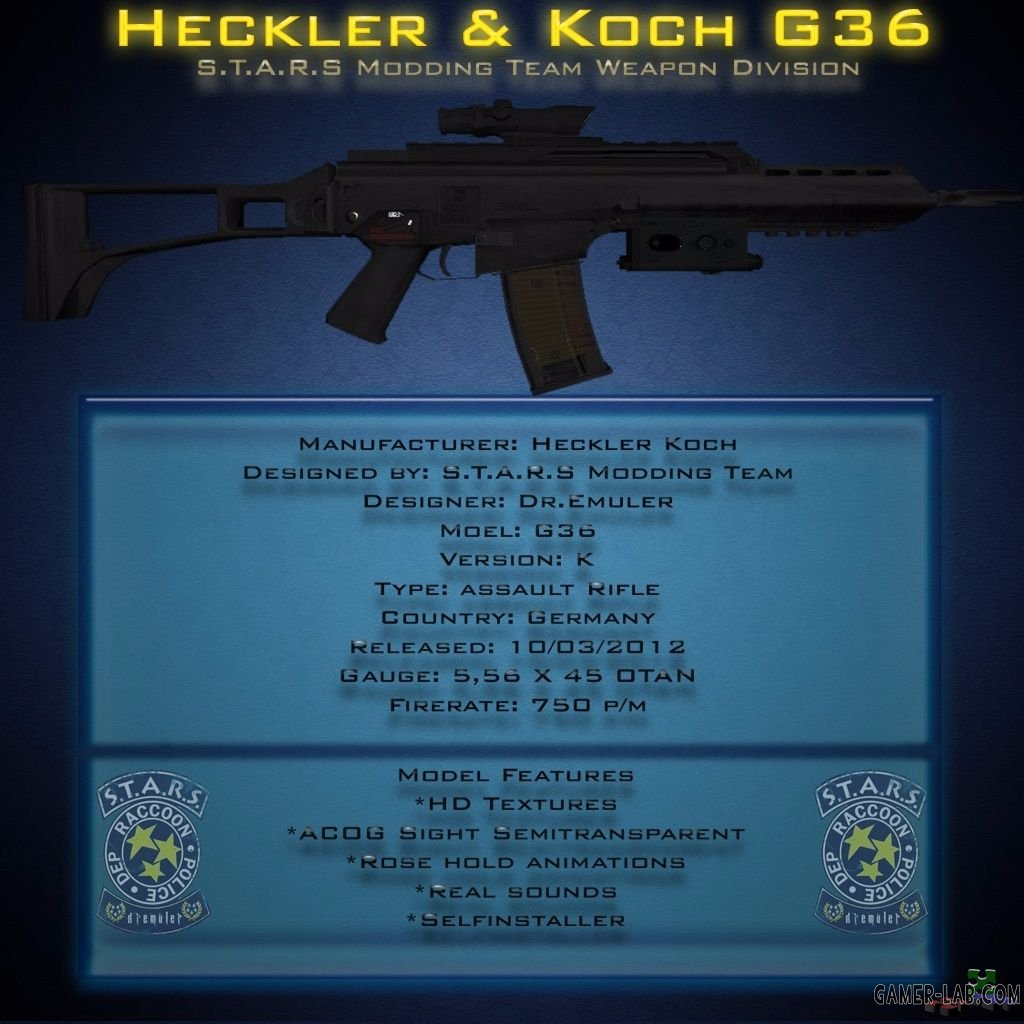 HK G36 Assault Rifle