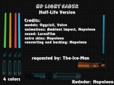 Lightsabers Pack + Player Model Darth Vaider