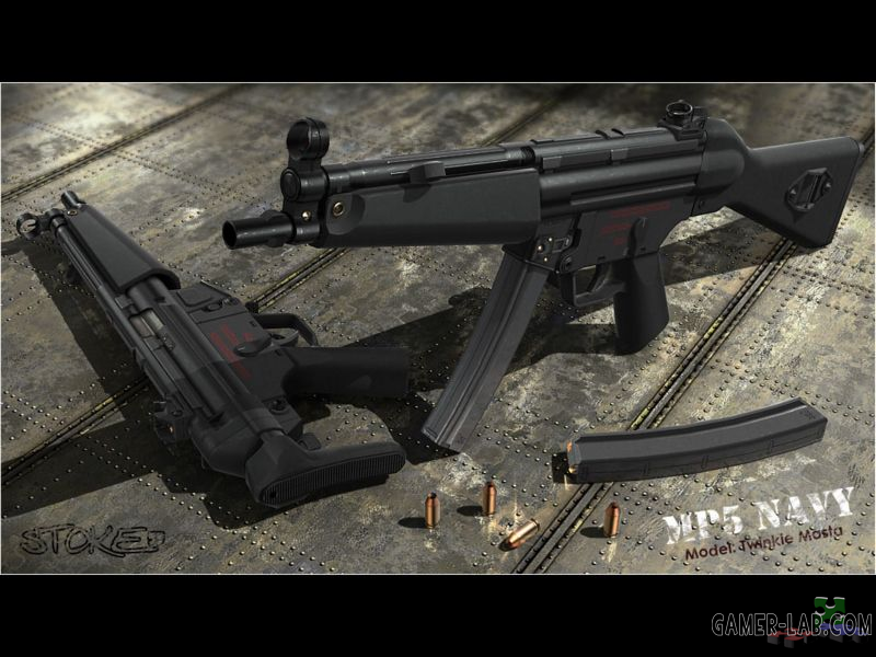 Hk MP5A4 Navy (only v_)