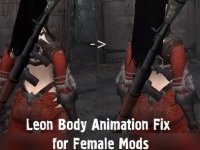 Leon Body Fix for Female Mods