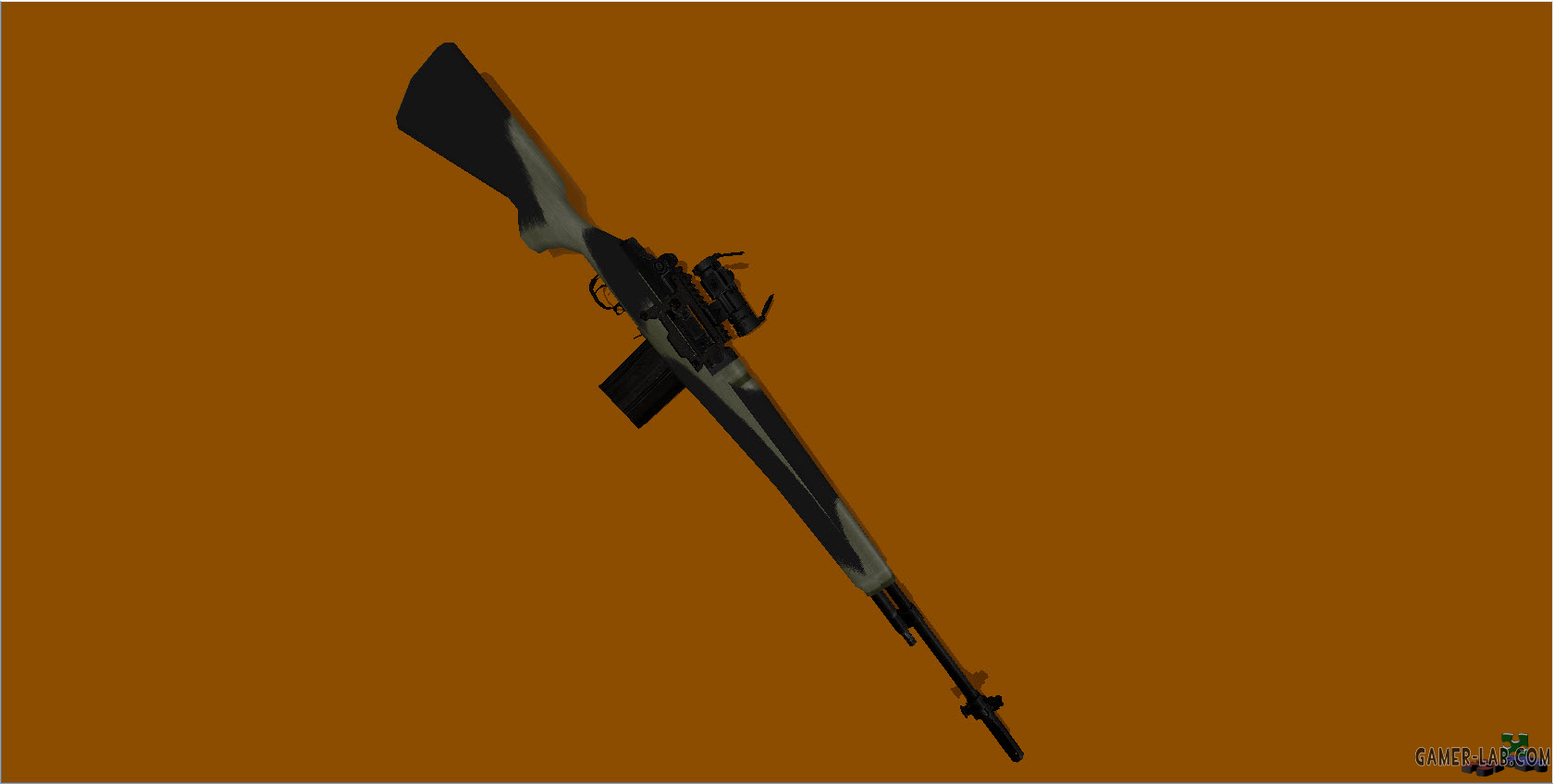 M14A3 Camo with red Aimpoint