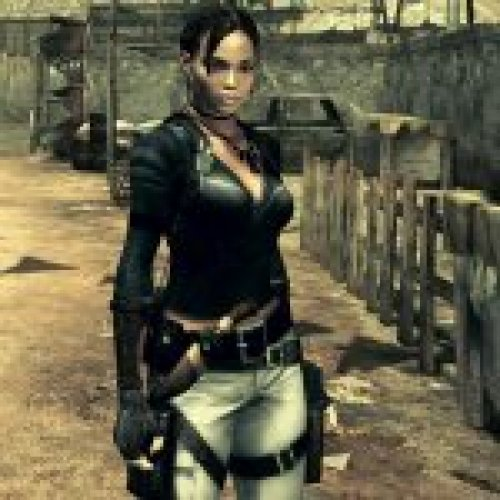 Sheva in Black Battle Shirt
