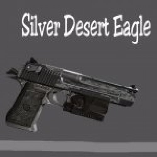 Silver engraved Desert Eagle