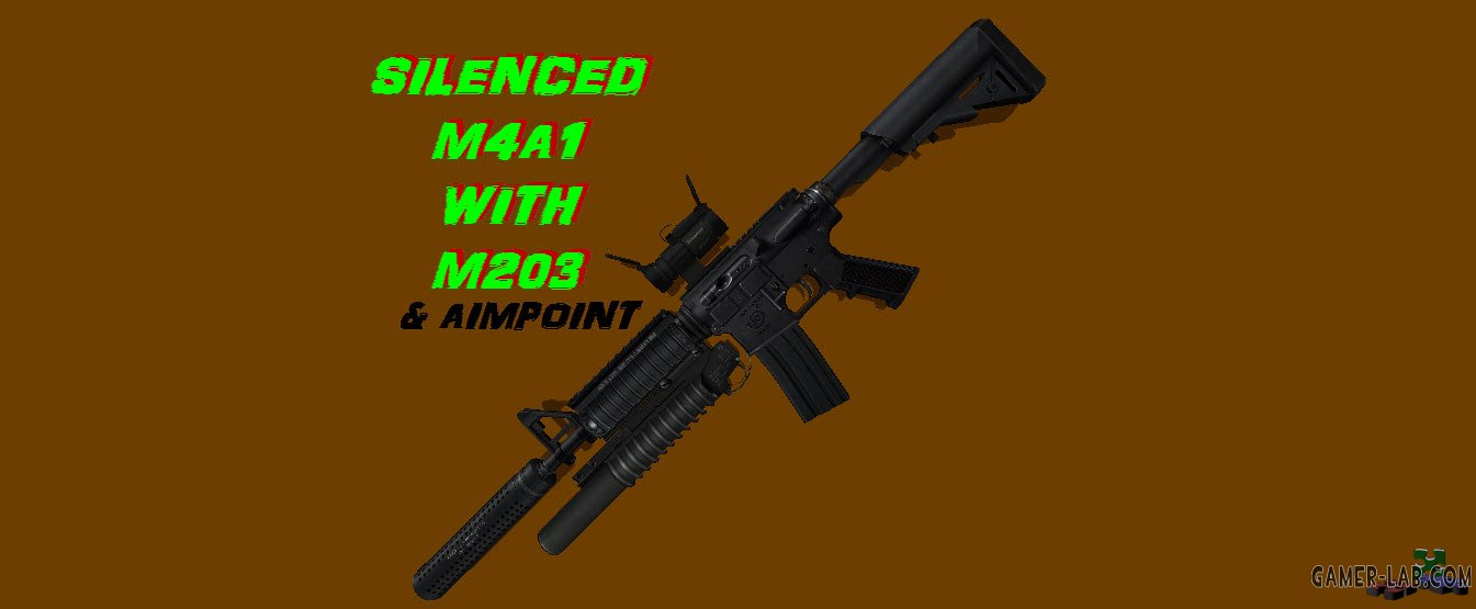 M4A1 Silenced with Aimpoint & M203