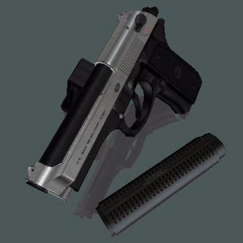 Beretta M92FS Two Toned (+ lasersight)