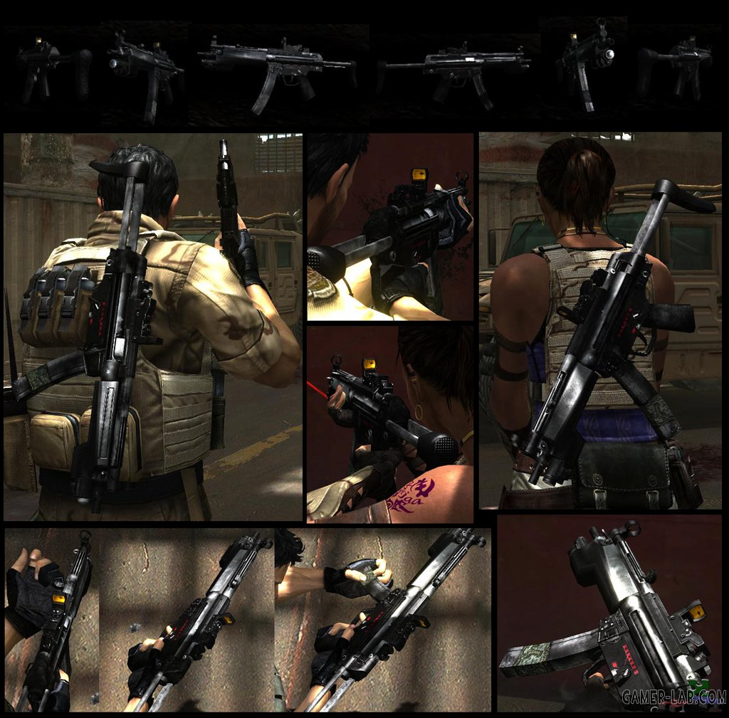 RE5 Cerberus Weapon Pack - Weapons - Models and Reskins
